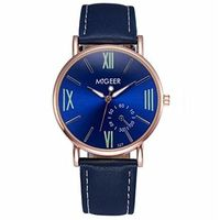 Blue Faced Mens or Womens Watch w/ Black Leather Bands $29.00