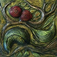 """Marie Gibbons: handcrafted 3D """"Tactile Memory"""" tile   Mosaic Art NOW"""