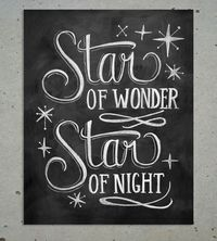 Star of Wonder Christmas Chalkboard Art Print by Lily & Val on Scoutmob Shoppe. Celebrate the holidays with this Star of Wonder Christmas chalkboard print which features hand-drawn text and star illustrations.
