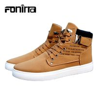 Men's Casual Shoes Solid Vintage Low Boots for Men Sporting Lace Up Male Size 38-45 R402.00