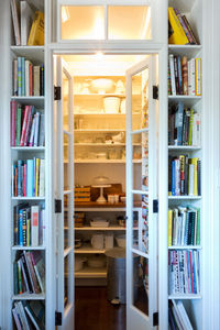 Love this cookbook storage