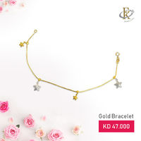 Dial up the dazzle with this incredibly beautiful gold bracelet.