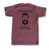"""LIMITED EDITION - THIGHBRUSH® - No Shave """"MOW""""vember - Men's T-Shirt - Black Cherry and Black $20.00"""