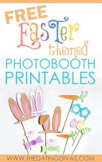 Add some FUN to this year's Easter pictures with these adorable Easter photo booth props!