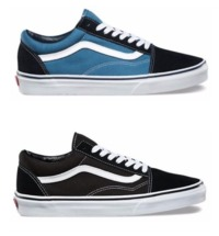 New Vans Old Skool Classic Canvas/Suede Black/Blue Skate Shoes/Sneakers/Trainers $49.0