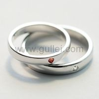 Gullei.com Hearts Adjustable Couples Promise Rings with Names Engraved