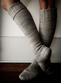 Whit's Knits: Little Cable Knee Highs - Little Cable Knee Highs - the purl bee