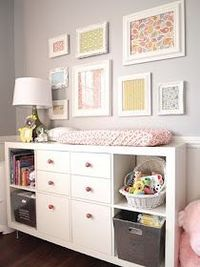 IKEA Expedit used as dresser & changing table.