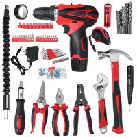 98Pcs Electric Cordless Drill Wrench Hammer Screwdriver Multifunctional Home Repair Tool Set