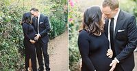 Ending the week on a formal black tie note, because who says you can't get fancy with your family maternity photos? We're loving the all black look this Santa B