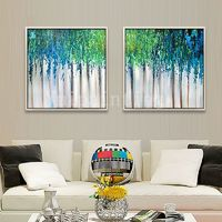 Abstract painting Original painting on canvas art Modern art blue 2 pieces Wall art extra large Home Decor Hand Painted cuadros abstractos $204.75