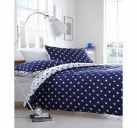 Bhs Navy Star Jersey bedding set, navy 1893660249 This navy and white star jersey bedding set is a fun and modern addition to the bedroom. The CottonCo collection offers high quality comfort and ease of use. Made of 100% Cotton.Fibre Composition: 10 h...