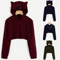 Price: $23.52 | Product: Womens Cat Ear Long Sleeve Hoodie Sweatshirt Hooded Pullover Tops Blouse | Visit our online store https://ladiesgents.ca