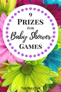 9 Prizes for Baby Shower Games