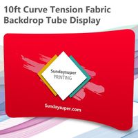 10ft Curved Tension Fabric Backdrop Tube Display Trade Show $0.00