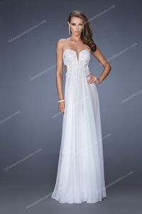 Elegant Strapless Side Cutout Sweetheart Prom Gown By La Femme 19745