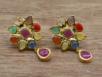 Beautiful handmade Real navratna studs. $70.00