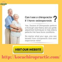 At Koca Chiropractic Clinic our experienced Omaha Chiropractors are dedicated to helping the people of Omaha reduce their risk of lifestyle-related preventable chronic conditions and encouraging them to become more responsible for promoting optimal health...