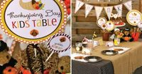 Thanksgiving Kids Table {Free Printable} - Every Day Cheer