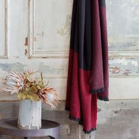 Duo Plum Throw by Le Jacquard Français $399.00