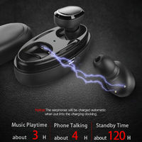 [Truly Wireless] Invisible Bluetooth Earphone Stereo Bass Sound Noise Cancelling Headset With HD Mic