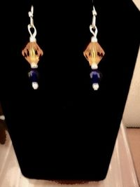 Auburn University Earrings in 4 different Styles. These can Also be personalized for your favorite college or pro football team. $6.50