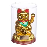 Collectable Waving Lucky Cat Maneki Neko Solar Powered Pal