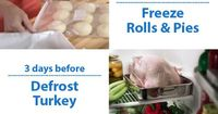 How to prep early for the Thanksgiving meal and make the day a breeze. When do you defrost the turkey, when do you make the pie crust. Learn more with tips, ide