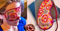 Travel Accessories: Satin Lined Sleep Mask. Never know when I might need a full set of blindfolds for the Buddies!