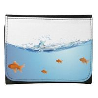 Goldfish under water aquarium wallets