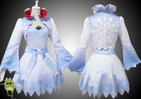 RWBY Weiss Schnee Cosplay Costume Outfits + Wig