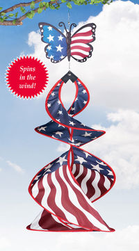Butterfly Patriotic Hanging Wind Spinner by Decorshop $9.95