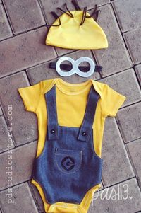 Halloween Despicable Me Minion Bodysuit Baby Costume on Etsy, $42.44 CAD