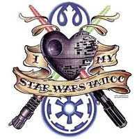 Star Wars tattoo design. Well...if I ever get a tattoo....might as well be Star Wars, eh? ;D
