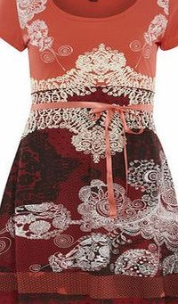 Dorothy Perkins Womens Izabel London Multi Red Eastern Print Multi Red eastern print jersey dress. Scoop neckline. Short sleeves. Unfastened. Length 96cm. 65% Polyester,35% Cotton. Cold gentle machine wash. Do not dry clean. http://www.comparestor...