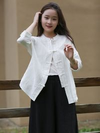 White linen cardigan women, Tops for women, light linen long top, Womens Shirt, Tunic Shirt, Boyfriend shirt, Plus size shirt, Summer shirt