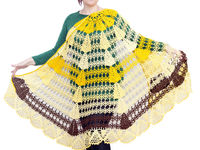 Yellow extra plus size shawl as Christmas gift for pregnant wife, oversized large blanket shawl for big woman $81.00
