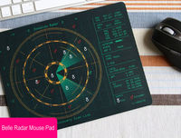 Belle Radar Pattern Mouse Pad - feelgift.com
