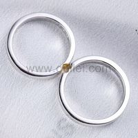 Gullei.com Matching Half Hearts Couples Promise Adjustable Rings Set