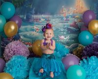 NC photographer, children's photography, children's studio photography, birthday session, cake smash session, under the sea themed , first birthday photography