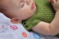 newborn knit sleeping vest... when you can't keep their blanket on them.