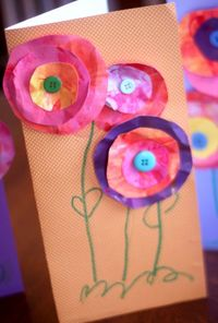 A 3D flower card is a great easy Mother's Day craft for kids to make! Who will your children surprise on Mother's Day?