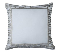 Christian White and Platinum Euro Pillow by Lili Alessandra $400.00