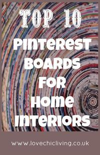 As you know from reading the blog recently I'm a big fan of Pinterest. It's a fabulous resource for getting that home décor hit that I sometimes need. I love se