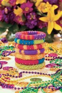 Ravelry: Mardi Gras Party Bangles pattern by Purlqueen Patterns