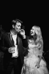 Let me preface this by saying outright that I have a complete couple-crush on this pair. The bride is hopelessly gorgeous with a killer sense of style and the g