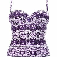 Bhs Purple and White Ivory Coast Print Tankini, This gorgeous 50s inspiredtankini top with moulded cups provides a supportive fit with feminine detail.Body: 80% Nylon 20% ElastaneLining: 100% PolyesterHand wash http://www.comparestoreprices....