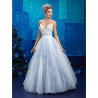 Allure Bridals 9425 Beaded Bodice Tiered Tulle Ball Gown Wedding Dress - Crazy Sale Bridal Dresses|Special Wedding Dresses|Unique 2018 New Style Dresses