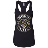 Stronger Than All - Military Art - Women's Racerback Tank Top $19.97