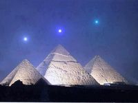 Planetary alignment that will take place Dec 3, 2012 is dead-on alignment with the Pyramids at Giza. Night Sky in Giza, Egypt on December 3, 2012, local time �€� one hour before sunrise compared with the Pyramids at Giza. Image generated by Starry N...